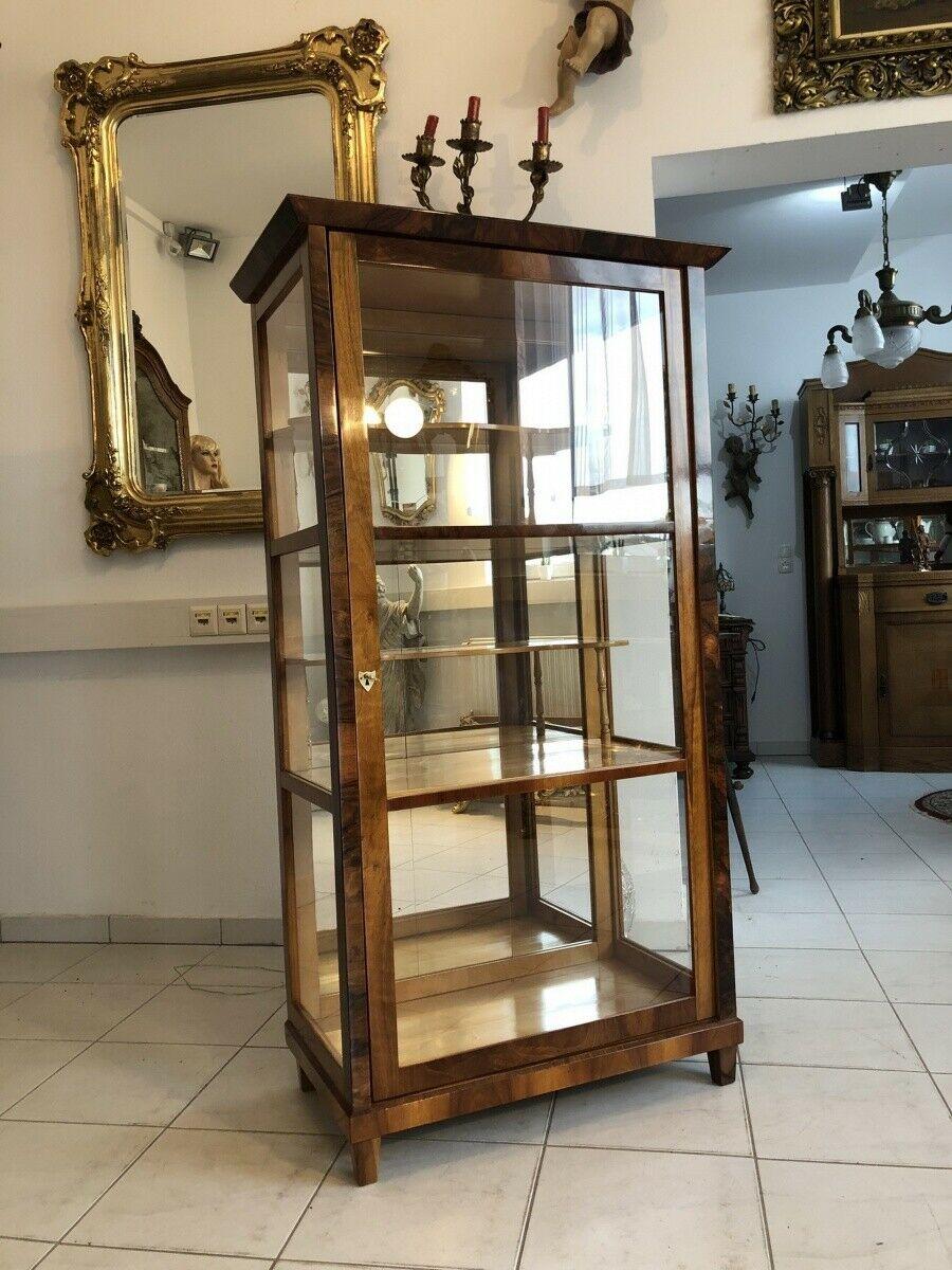 Restaurierte Biedermeier Vitrine Bücherschrank Glasschrank Z1265 1