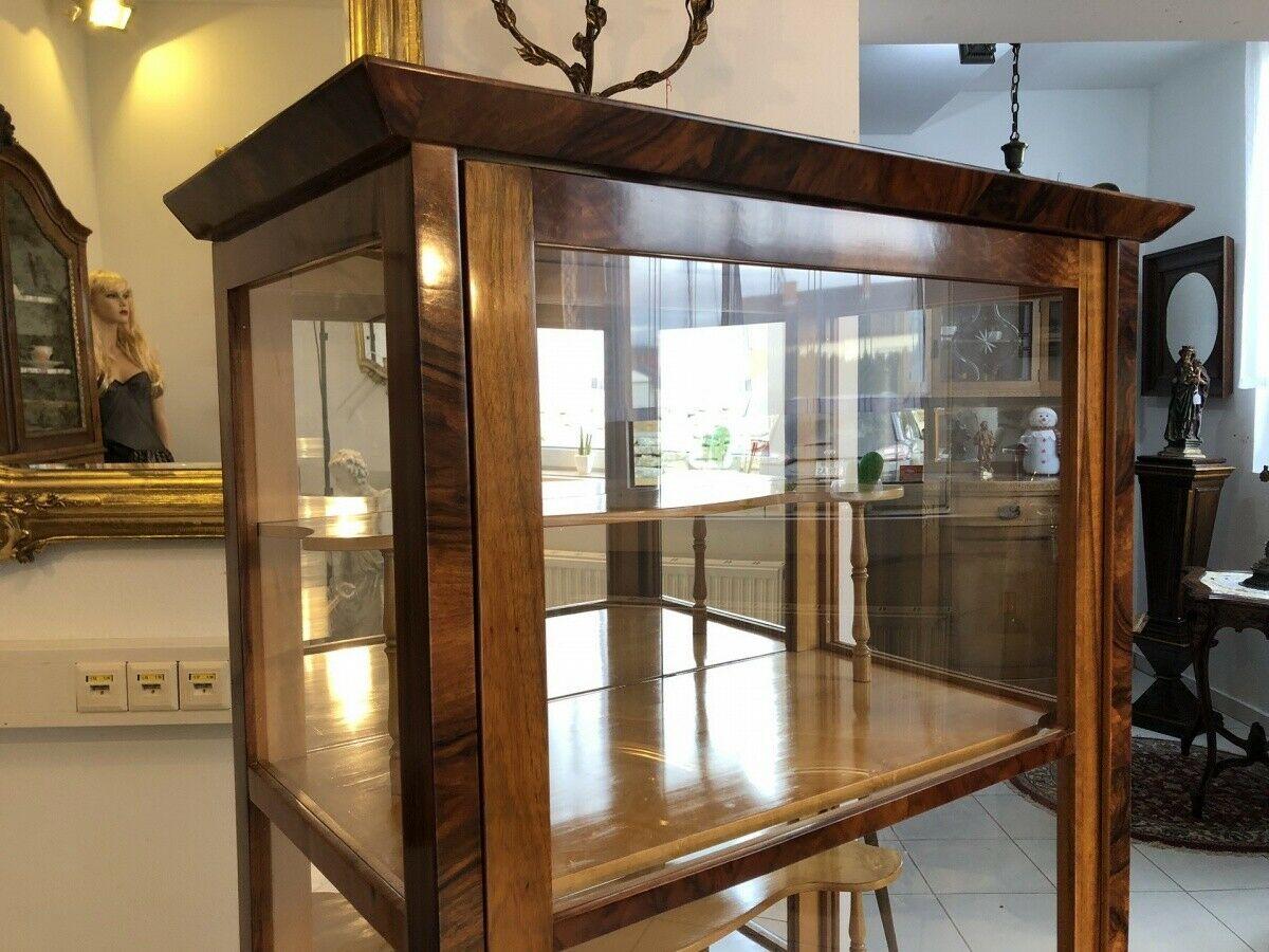 Restaurierte Biedermeier Vitrine Bücherschrank Glasschrank Z1265 11