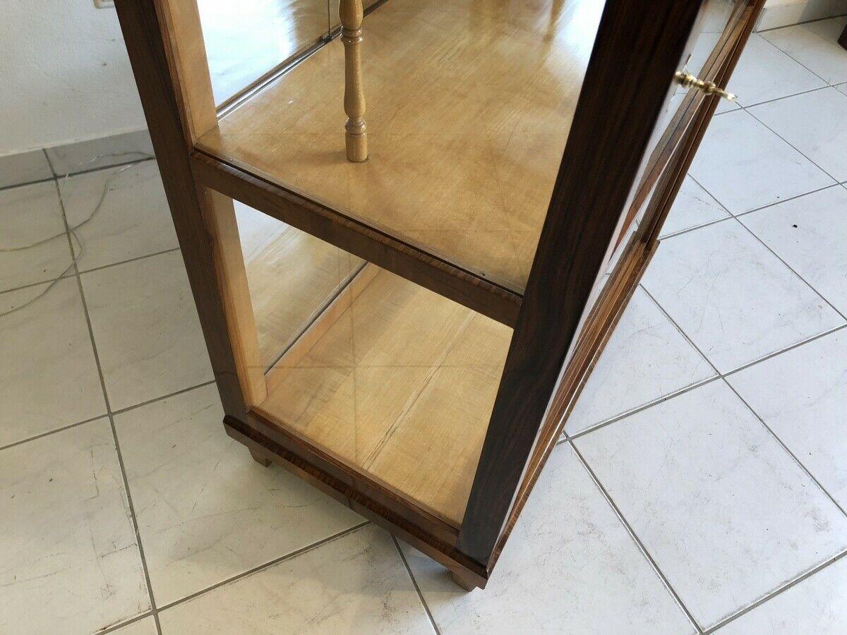 Restaurierte Biedermeier Vitrine Bücherschrank Glasschrank Z1265 2