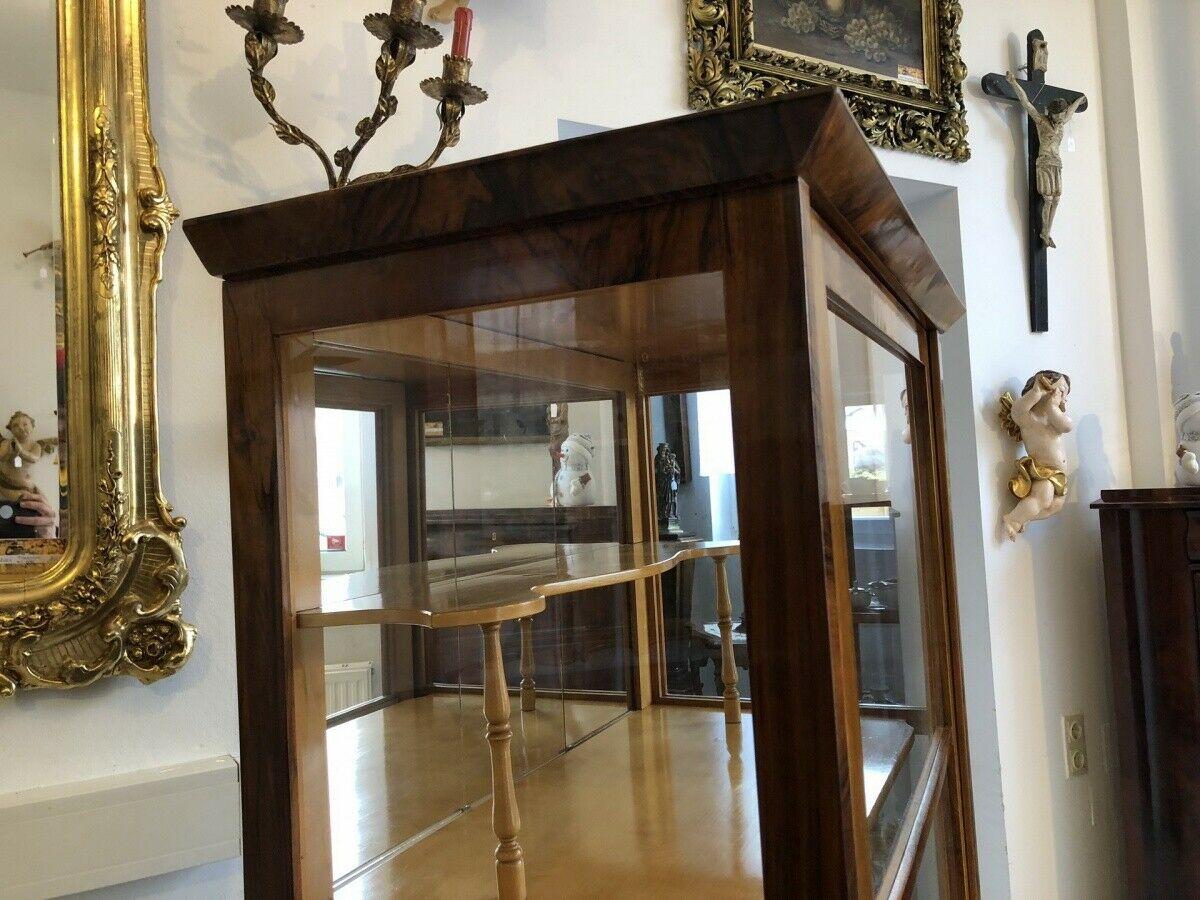 Restaurierte Biedermeier Vitrine Bücherschrank Glasschrank Z1265 3