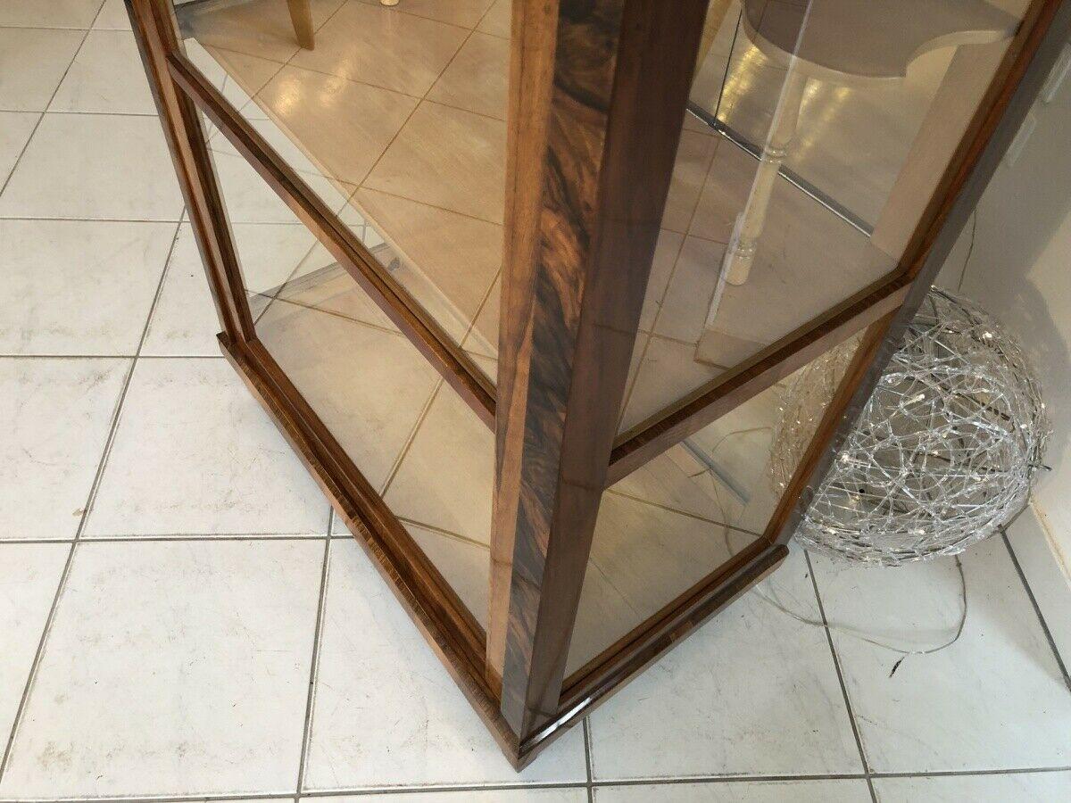 Restaurierte Biedermeier Vitrine Bücherschrank Glasschrank Z1265 4