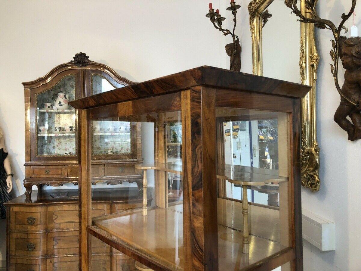 Restaurierte Biedermeier Vitrine Bücherschrank Glasschrank Z1265 5