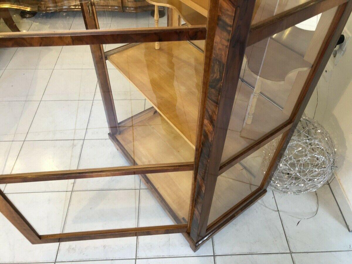 Restaurierte Biedermeier Vitrine Bücherschrank Glasschrank Z1265 6
