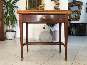 Originaler Jugendstil Spieltisch Tisch Schachtisch X2671