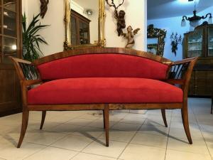 Originales restauriertes Biedermeier Sofa Nussholz X2686