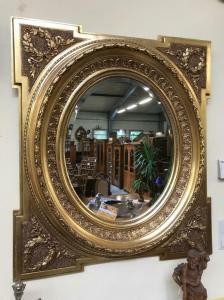 Prächtiger Florentiner Spiegel Akanthusblattschnitzkunst Traum Original - H1013-
