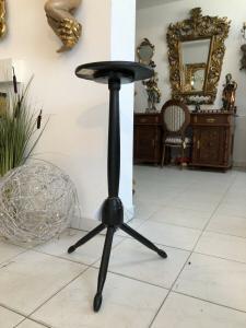 Jugendstil Tisch Beistelltisch Tischerl rund schwarz X2092