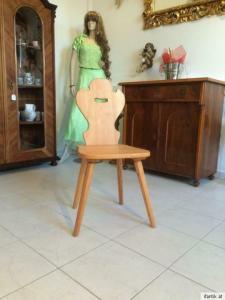 Massiver Bauernsessel Stuhl Sessel Bauernstuhl Herzerlsessel Nr. 7361