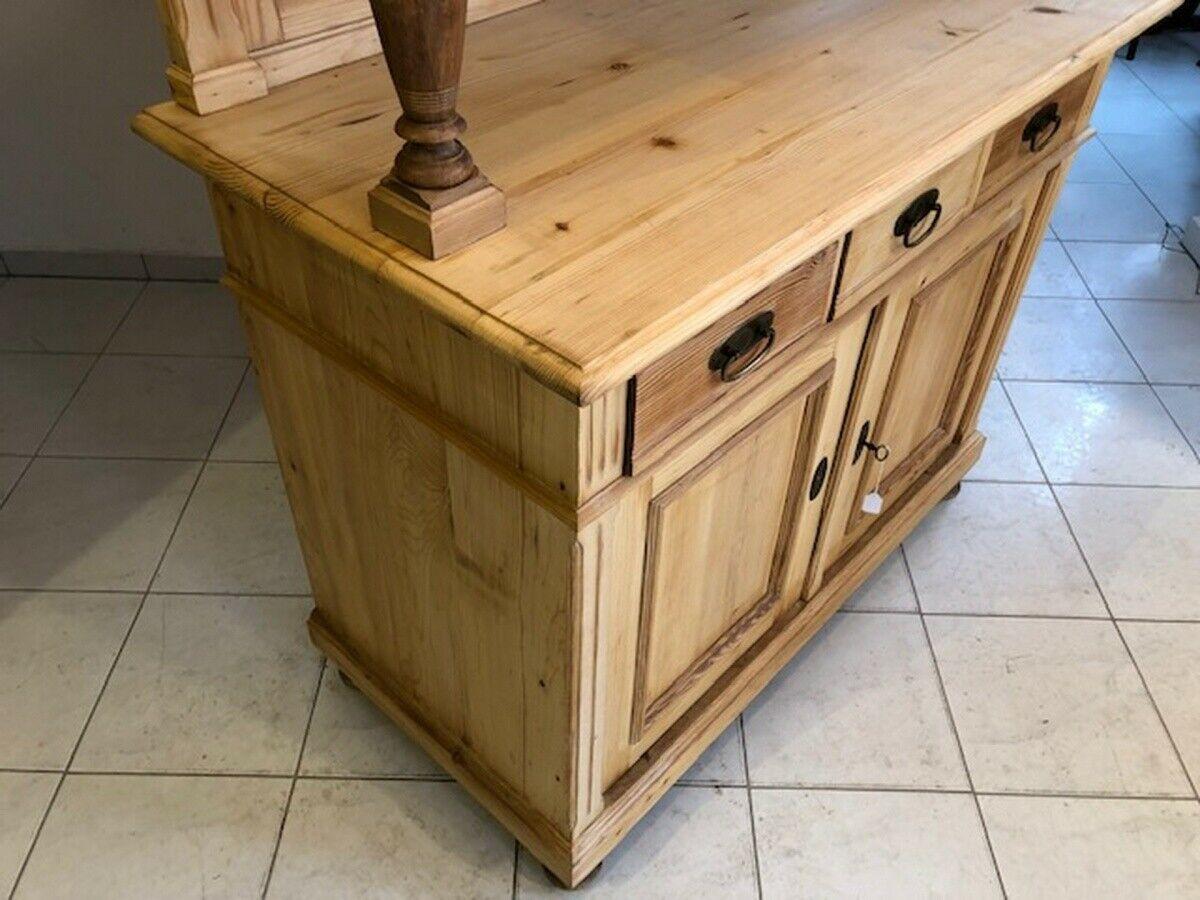 Jugendstil Küchenschrank Naturholz Fichtenholz - Kredenz Z1024 5