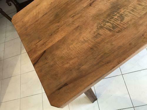 Uriger Bauerntisch Tisch Altholz Couchtisch Hacktisch - W1553 0