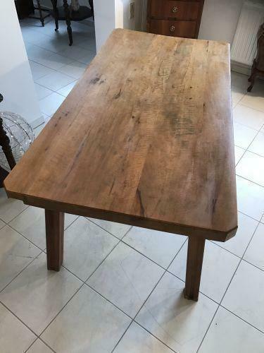 Uriger Bauerntisch Tisch Altholz Couchtisch Hacktisch - W1553 1