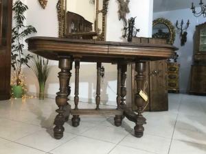 Antiker Gründerzeit Tisch Esstisch Speisezimmertisch Auszugtisch W3540
