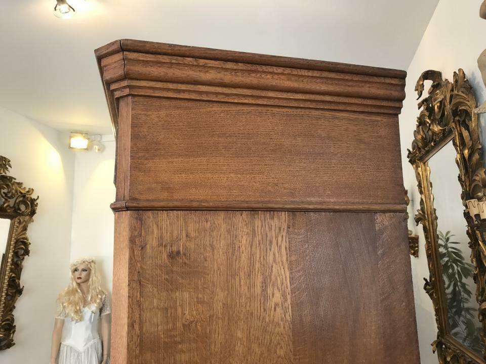 Original Biedermeier Garderobenschrank Kleiderschrank Eiche W1781 7