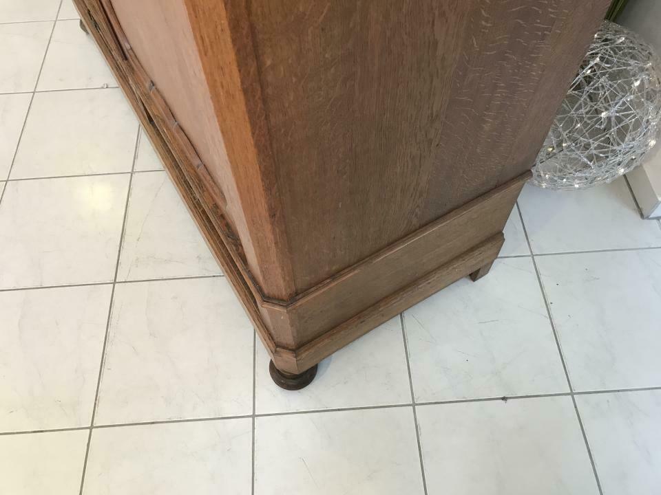 Original Biedermeier Garderobenschrank Kleiderschrank Eiche W1781 8