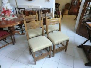 4 Stück Rittersessel Stuhl Sessel Esszimmerstühle Traumstücke Nr. 5254