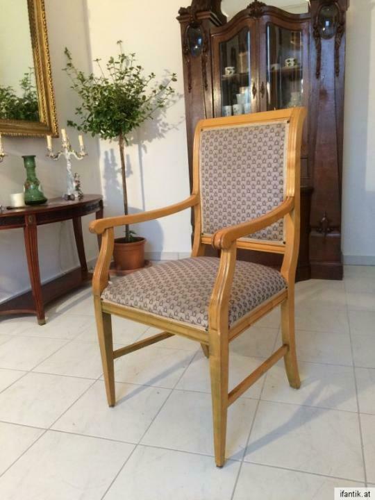 Armlehnstuhl Fauteui Barock Schreibtisch Sessel Stuhl Nr. 7071 0