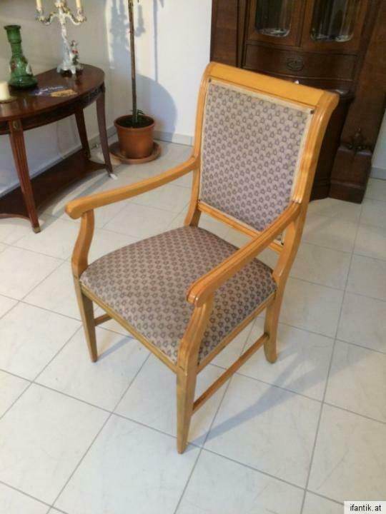 Armlehnstuhl Fauteui Barock Schreibtisch Sessel Stuhl Nr. 7071 1