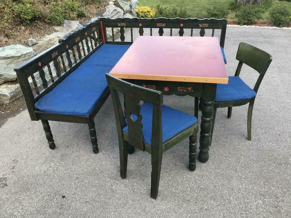 Eckbank Zirbenholz Bauernensemble Tisch 2 Sessel W1759 2