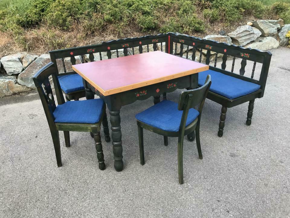Eckbank Zirbenholz Bauernensemble Tisch 2 Sessel W1759 3