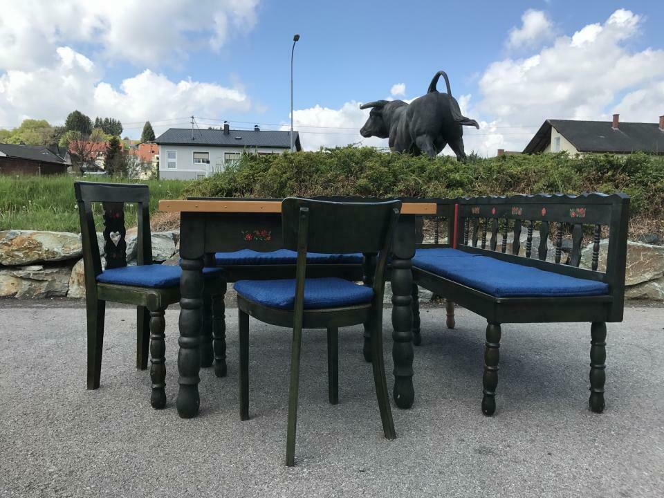 Eckbank Zirbenholz Bauernensemble Tisch 2 Sessel W1759 4