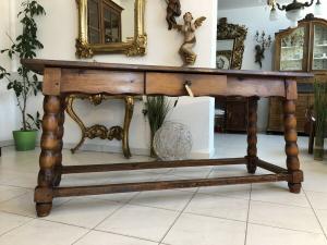 Alter uriger Bauerntisch Zirbenholz Tisch Bauernstube X2146