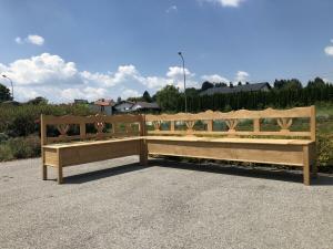 Bäuerliche Truhen Eckbank Eckbankgruppe Stube 2x3m Z1812