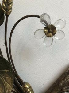 Floraler Wandleuchter Seitenleuchte BLätter Glas Ähren Z1692