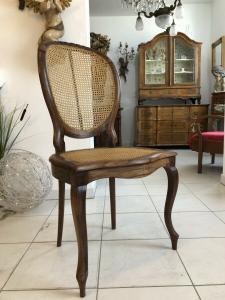 1 Stück Biedermeier Ensemble Sessel Stuhl Rattan X1876