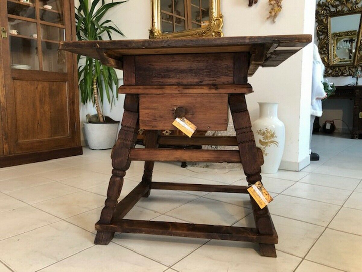Alter Jogltisch  Tisch Bauerntisch Landhaustisch Naturholz X2747 0