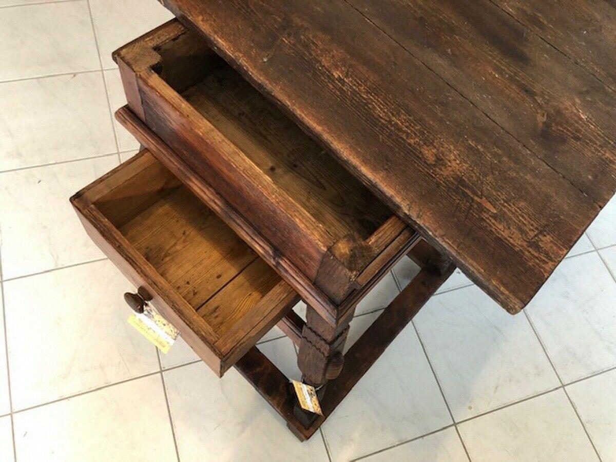 Alter Jogltisch  Tisch Bauerntisch Landhaustisch Naturholz X2747 1
