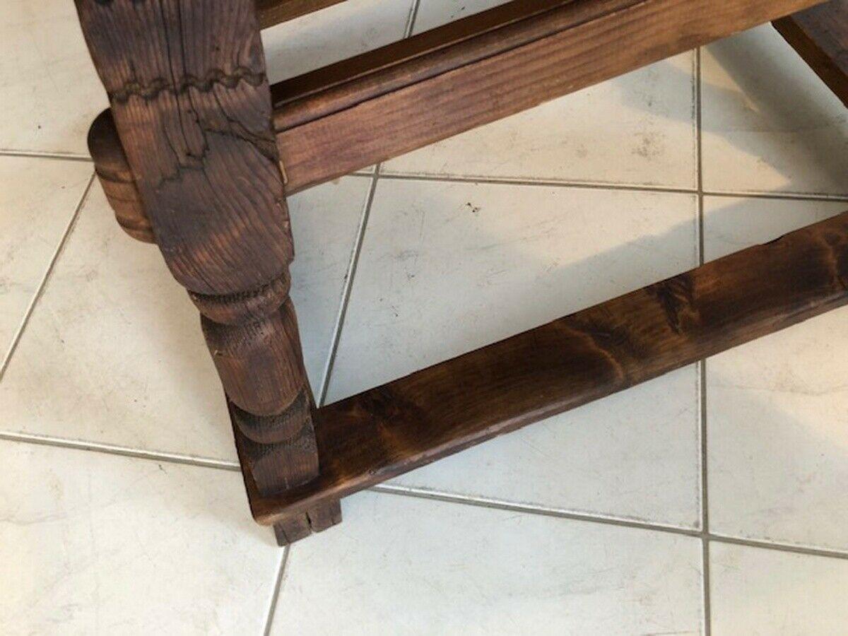 Alter Jogltisch  Tisch Bauerntisch Landhaustisch Naturholz X2747 2