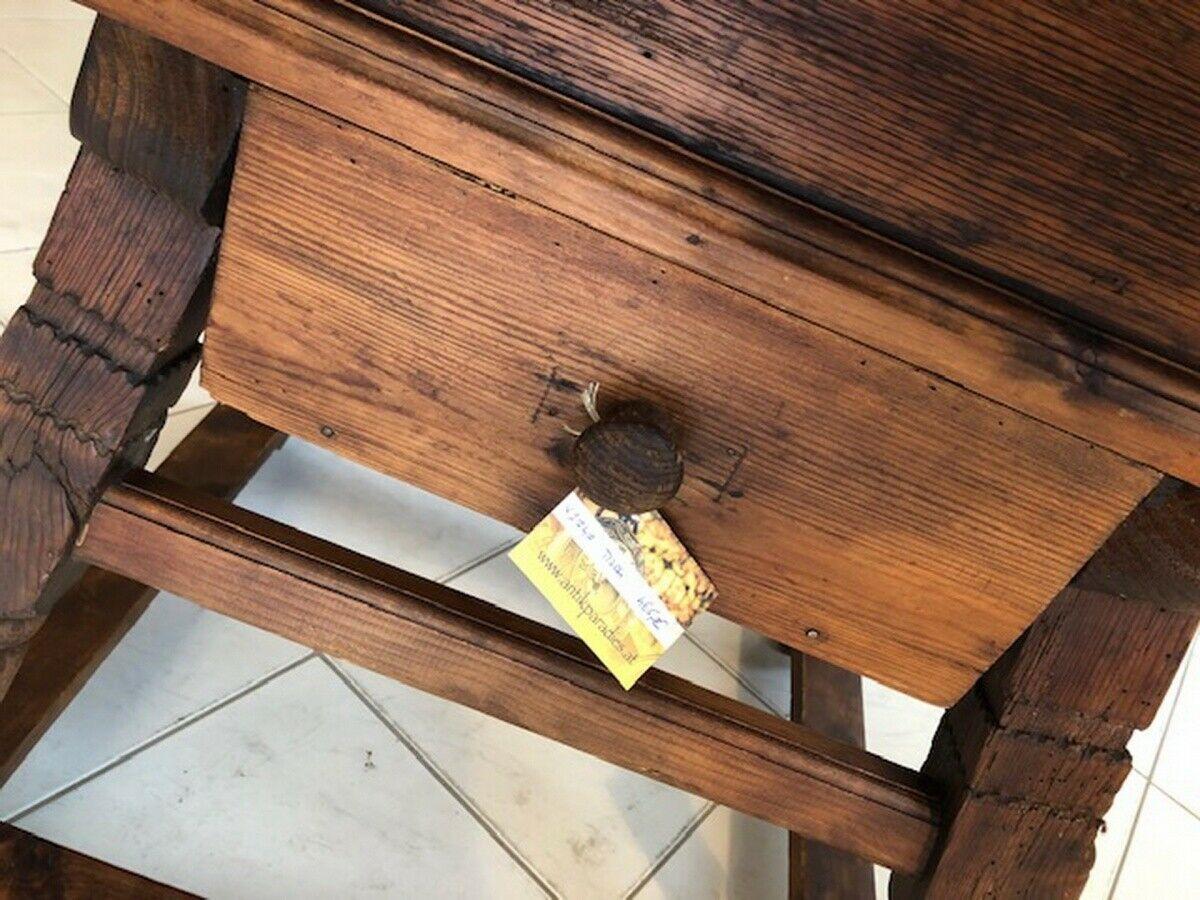 Alter Jogltisch  Tisch Bauerntisch Landhaustisch Naturholz X2747 3