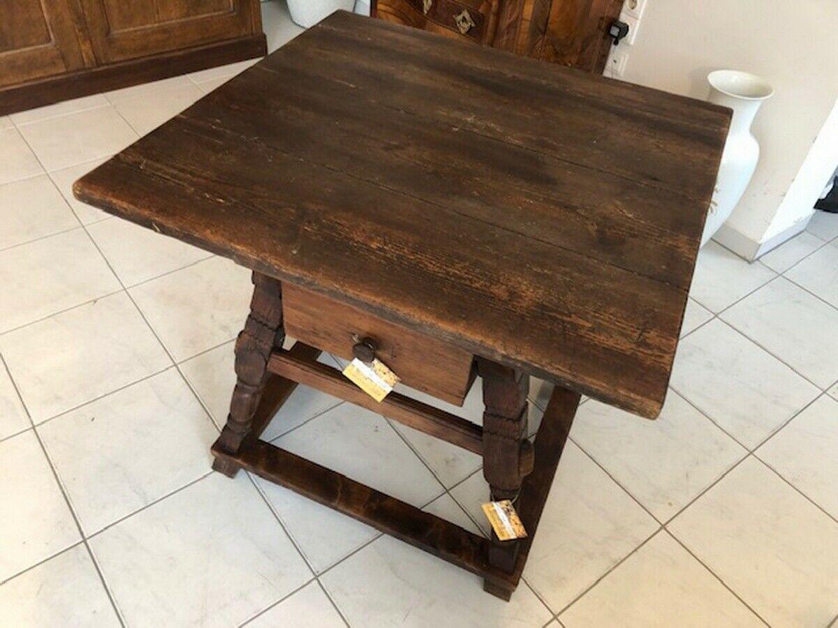 Alter Jogltisch  Tisch Bauerntisch Landhaustisch Naturholz X2747 5
