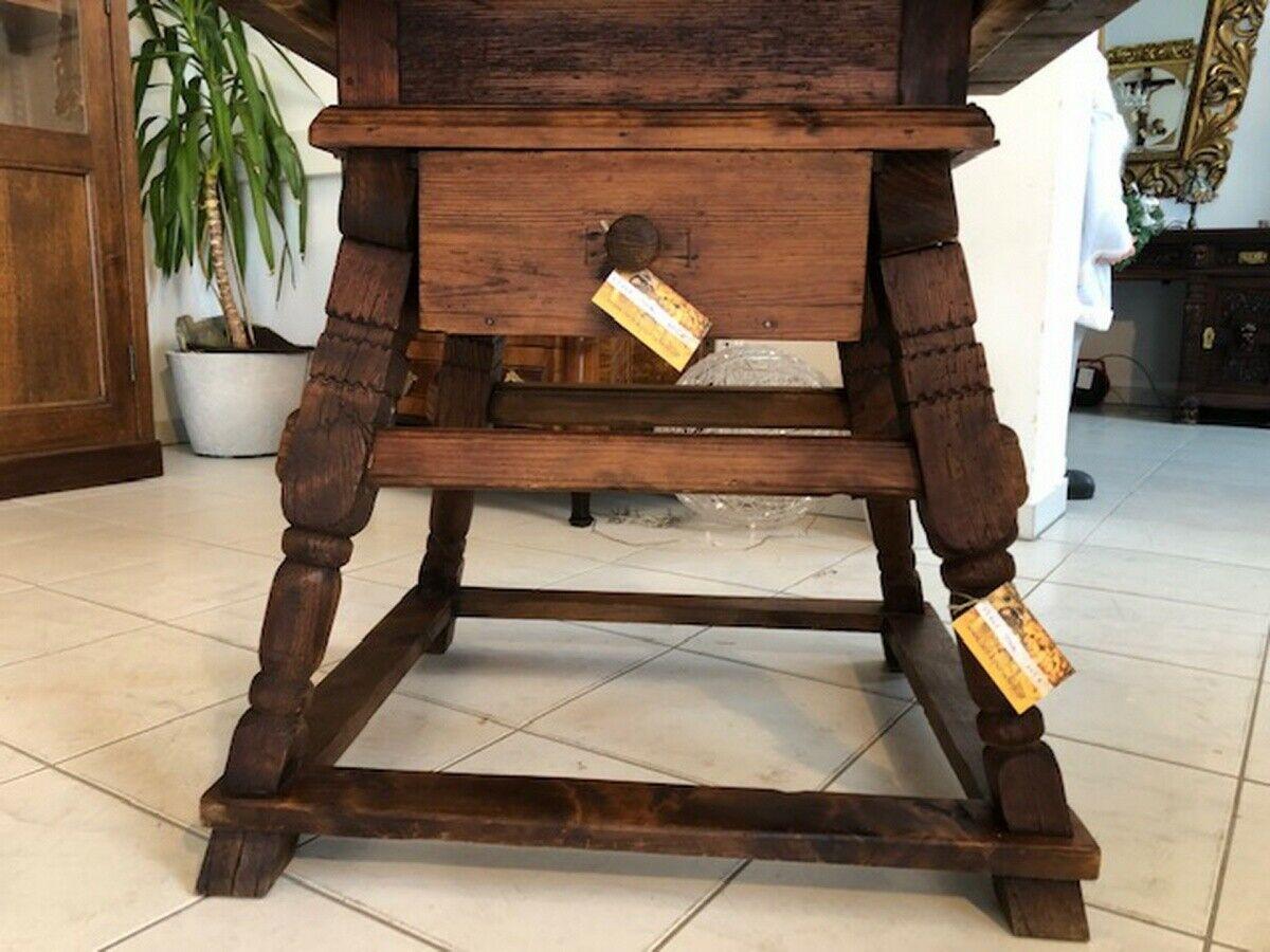 Alter Jogltisch  Tisch Bauerntisch Landhaustisch Naturholz X2747 6