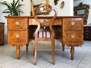 Restaurierter Biedermeier Schreibtisch Sekretär Schreibmöbel Z1258