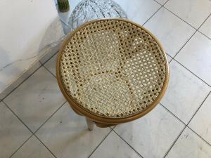Hübscher Hocker Stuhl Barhocker Rattangelfecht Z1751