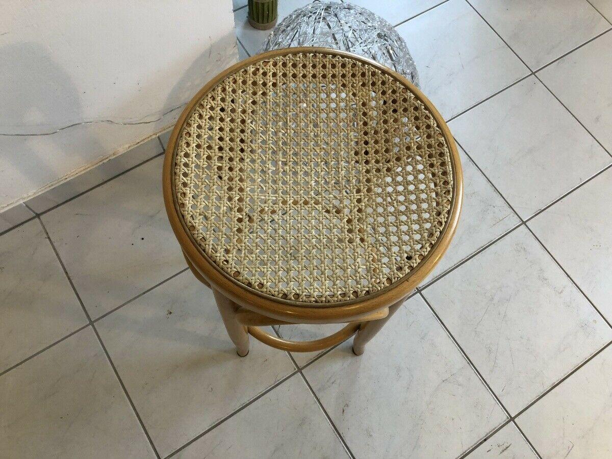 Hübscher Hocker Stuhl Barhocker Rattangelfecht Z1751 1