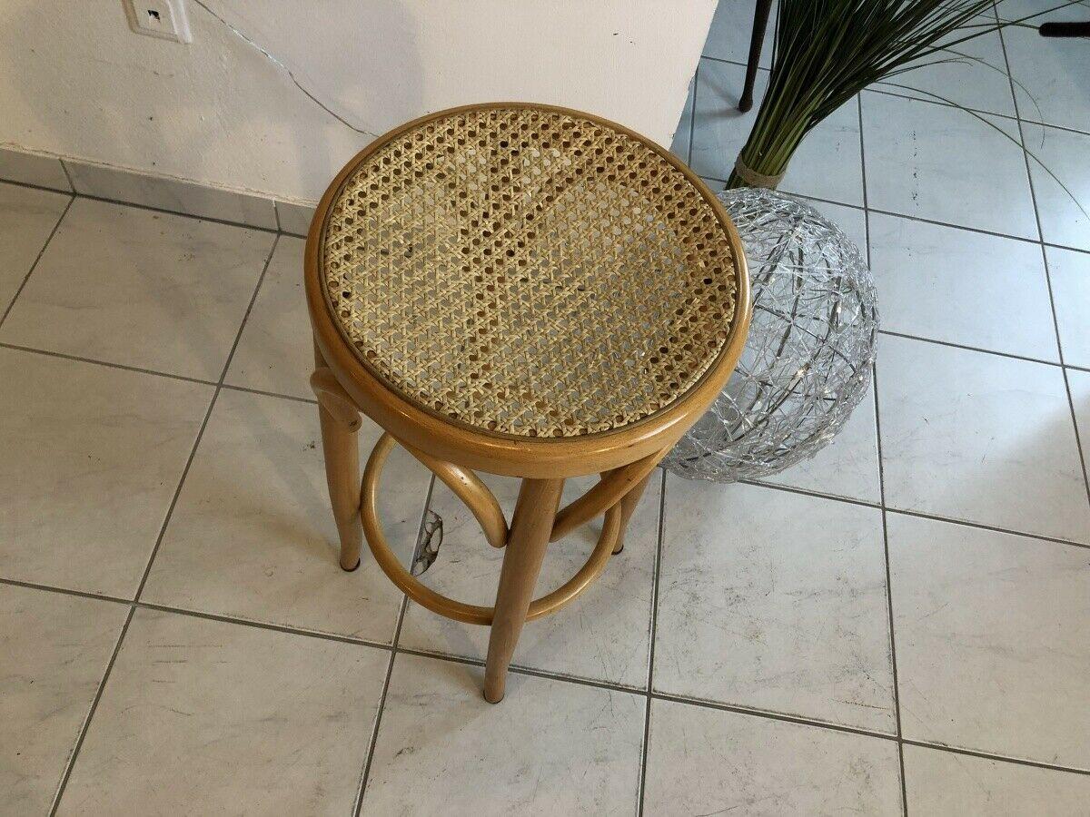 Hübscher Hocker Stuhl Barhocker Rattangelfecht Z1751 2
