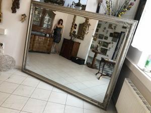 Riesen Wandspiegel Dekospiegel Barock Silber Z1461
