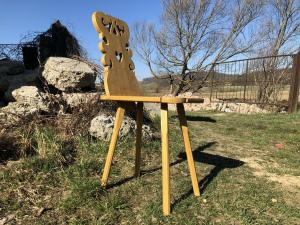 Beschnitzter Kindersessel Bauernsessel Stuhl Landhaussessel Ro1013