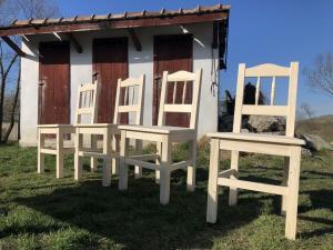 4er Ensemble Bauernsessel Stuhl Landhaussessel Fichtenholz R0B1003