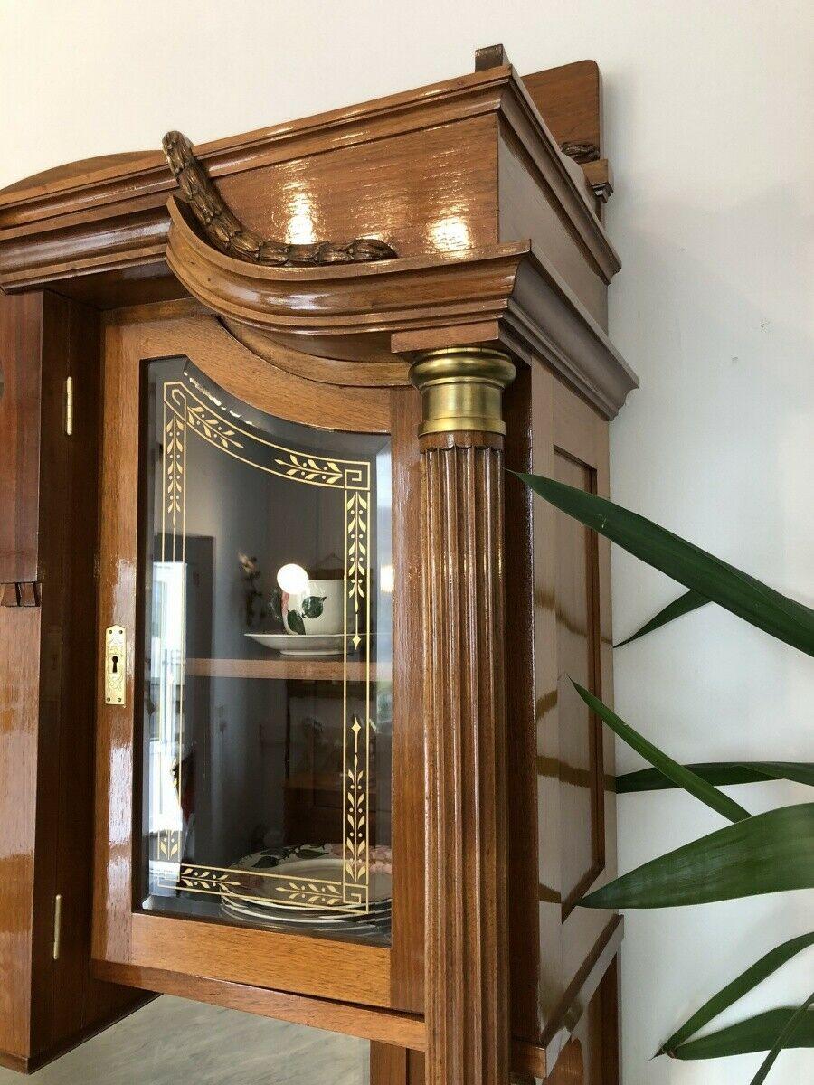 Restaurierte Jugendstil Säulenanrichte Aufsatzbuffet Vitrine Z1625 4