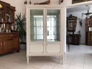 Prächtige Klassizismus Bücherschrank Vitrine Glasschrank Z1673