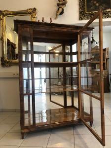 Restaurierte Biedermeier Vitrine Bücherschrank Glasschrank Z2000