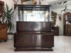 Art Deco Bauhaus Sammlerschrank Vitrine Küchenschrank Z2062