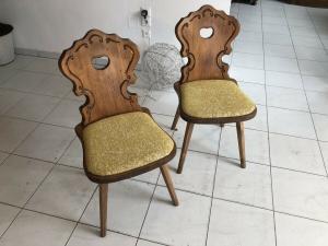 Voglauer Sessel Handbemalt Stuhl Original Herzerlsessel Z1825