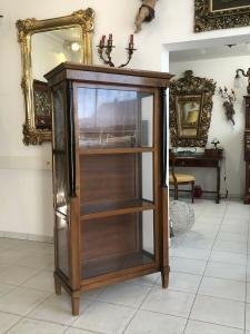 Traumhafter Biedermeier Vitrine Säulen Glasvitrine E1011