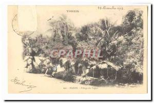 Tonkin Indochine Hanoi Vietnam Ansichtskarte AK Village du papier