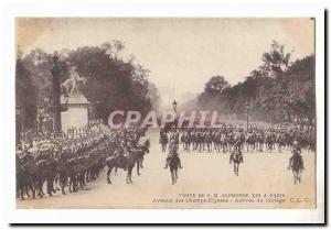 Visite de S M Aphonse XIII a Paris Ansichtskarte AK Avenue des Champs Elysees Arrivee du cortege