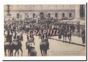 Visite de S M Alphonse XIII a Paris Ansichtskarte AK Arrivee du cortege au Pantheon